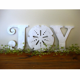 Joy Wood Art Beach Sign