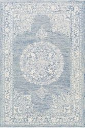 Kayseri Denim Blue Hand Tufted Rug  <font color=a8bb35> NEW</font>