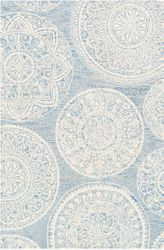 Kayseri Ice Blue Hand Tufted Rug  <font color=a8bb35> NEW</font>