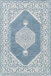Kayseri Navy Cream Hand Tufted Rug <font color=a8bb35> NEW</font>