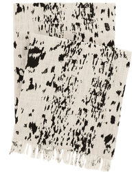 Kipling Ivory Black Throw <font color=a8bb35> NEW</font>