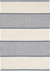 La Mirada Navy Woven Cotton Rug <font color=a8bb25>NEW</font>