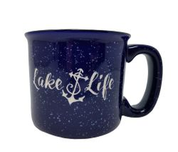 Lake Life Ceramic Coffee Mug Set of 4