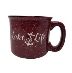 Lake Life Ceramic Coffee Mug - Red
