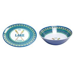 Lake Time Serving Platter and Serving Bowl