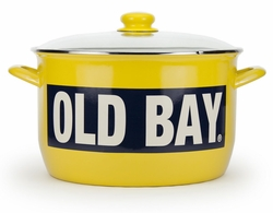 Large Old Bay 18 Quart Enamelware Stock Pot with Rack *Sold out
