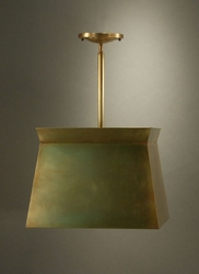 Large Pendant Light with Brass Shade <font color=a8bb25> Sold Out</font>