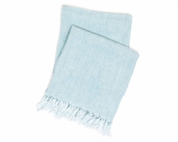 Laundered Linen Sky Throw 20% OFF