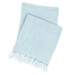 Laundered Linen Sky Throw <font color=a8bb35> NEW</font>