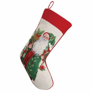 Laurel Berry Santa Christmas Stocking<font color =a8bb35> Sold out</font>