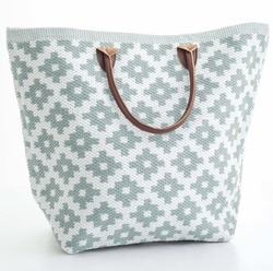 Le Tote Light Blue/White Tote Bag<font color=a8bb35> 20% OFF</font>