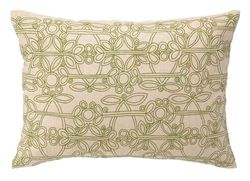 Les Jardins Embroidered Pillow - Green