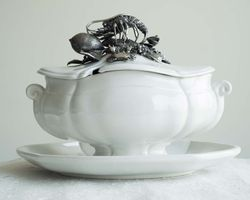 Lobster Soup Tureen<font color=a8bb35> Low Stock</font>