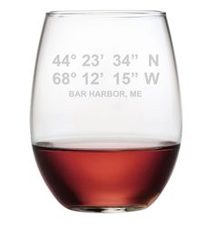 Set of 4 Longitude & Latitude Glassware - 4 Glass Options