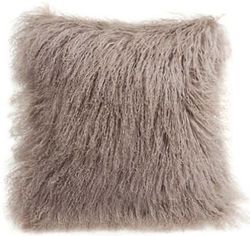 Longwool Tibetan Sheepskin Bark Decorative Pillow