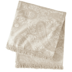 Loto Chenille Gold Throw <font color=a8bb35> NEW</font>