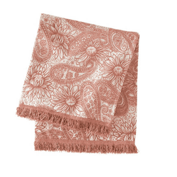 Loto Chenille Rose Gold Throw <font color=a8bb35> NEW</font>