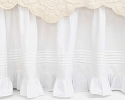 Louisa White Bedskirt