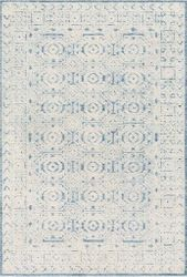 Louvre Ice Blue Hand Tufted Rug <font color=a8bb35> NEW</font>