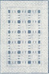 Louvre Navy Blue Hand Tufted Rug <font color=a8bb35> NEW</font>