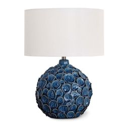 Lucia Ceramic Blue Table Lamp  <font color=a8bb35>NEW</font>