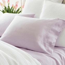 Lush Linen Pale Lilac Pillowcases