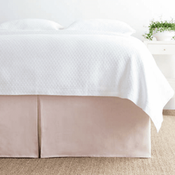 Lush Linen Slipper Pink Bed Skirt