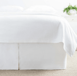 Lush Linen White Bed Skirt