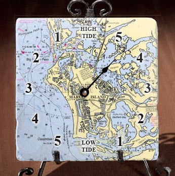 Marble Tide Clock Customize Your Location For Sale
