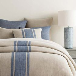 Maxwell Linen Duvet Cover<font color=a8bb35> NEW</font>