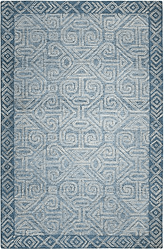Mayan Blue Hand Tufted Rug <font color=a8bb35> NEW</font>