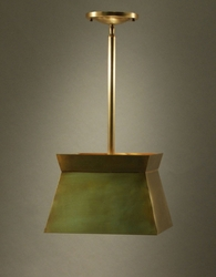 Medium Pendant Light with Brass Shade <font color=a8bb25> Sold Out</font>