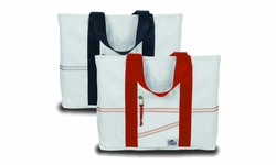 Newport Sailcloth Medium Tote in Red or Blue