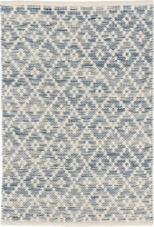 Melange Diamond Blue Woven Cotton Rug