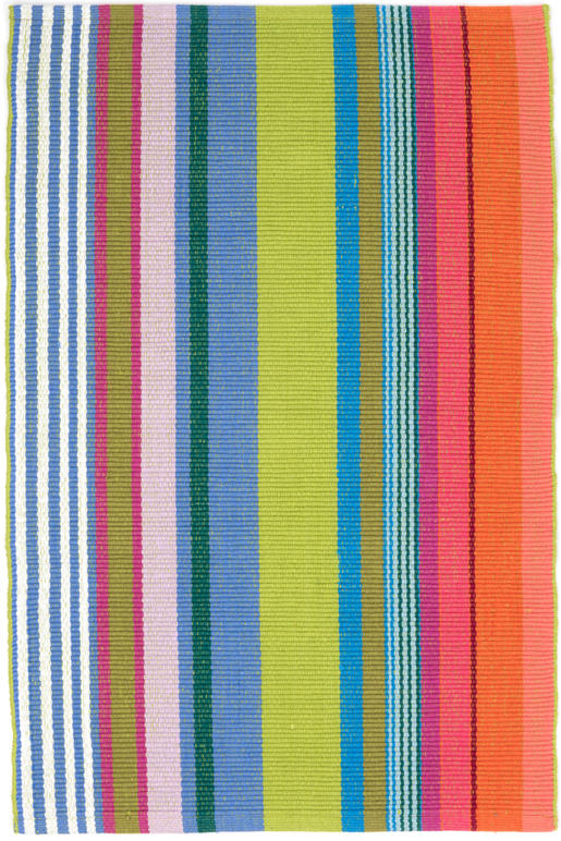 Dash And Albert Mellie Stripe Woven Cotton Rug For Sale