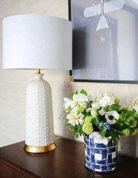 Melrose Table Lamp - White *Out of Stock
