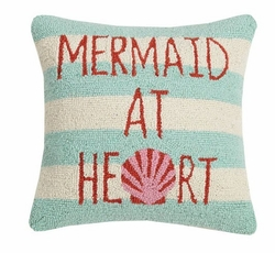 Mermaid At Heart Hooked Pillow