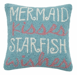 Mermaid Kisses Starfish Wishes Hook Pillow