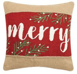 Merry Burlap Pillow