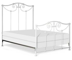 Metal Scroll Bed with Flowers