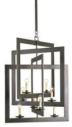 Middleton 8-Light Chandelier in Bronze Gold or Silver Leaf