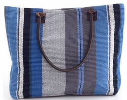 Midnight Stripe Woven Cotton Tote<font color=a8bb35> 20% OFF</font>