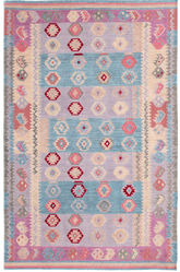Monterey Kilim Woven Wool Rug <font color=a8bb35>NEW</font>