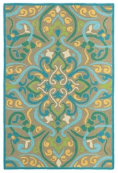 Morocco Outdoor Rug in Aqua