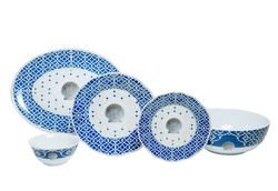 Moroccan Shell Melamine Dinner Set