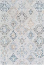 Morse Pale Blue Hand Tufted Rug  <font color=a8bb35> NEW</font>