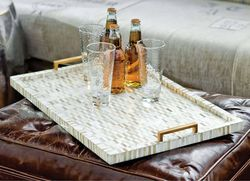 Multi-Tone Bone & Brass Tray
