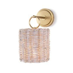 Nantucket Wall Sconce in Natural Brass