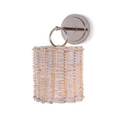 Nantucket Wall Sconce in Polished Nickel