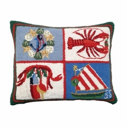 Nautical Christmas Pillow